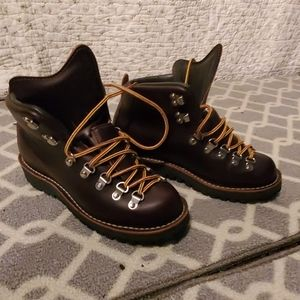 Danner, brown leather hiking boots. Mountain light